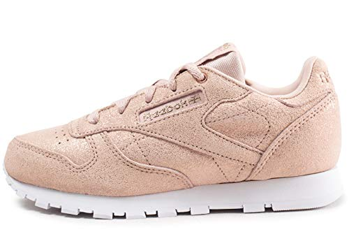 Reebok Mädchen Classic Leather Fitnessschuhe, Mehrfarbig (Ms/Rose Gold/Bare Be 0), 32 EU