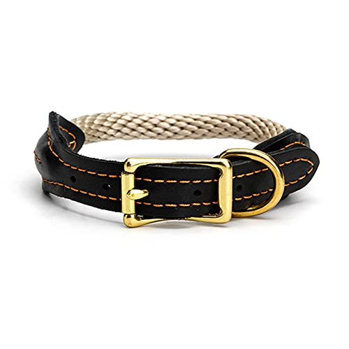 ZZCR Collar De Perro Mascota Collar De Varios Tamaños Collar De Cuero Collar De Entrenamiento Al Aire Libre De Doble Cuello Suave S1