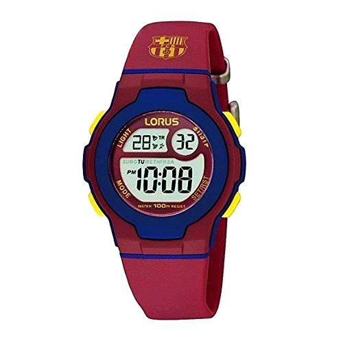 Sehen Sie F.C. Barcelona Lorus Junge blau rot digital R2337HX9 [AB5880] - Modell: R2337HX9