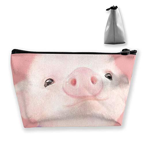 wenxiupin Pink Pig Give Me A Home Where The Buffalo Roam Storage Bag Organizer Portable Gift For Girls Women Large