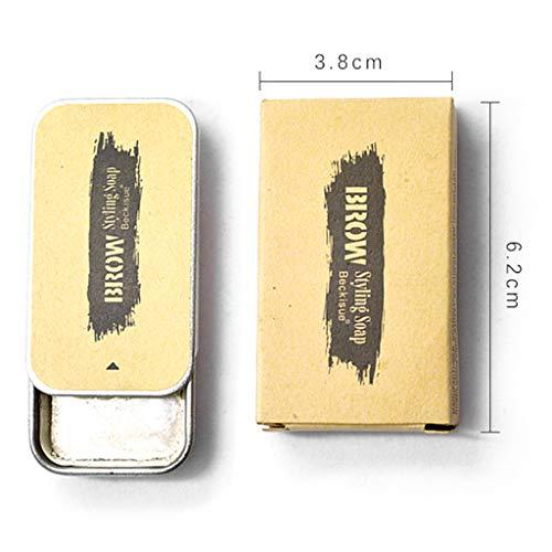 S-TROUBLE 1Box 16g Crème pour Les Sourcils Crème pour Les Sourcils Styling Soap Brows Extension Gel Kit de Maquillage