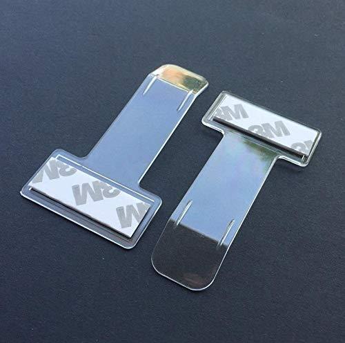 Autopower - Juego de 2 Pinzas para el Parabrisas, Transparentes