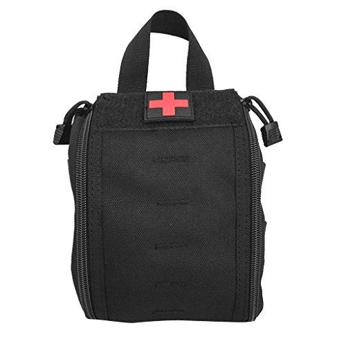 Gazechimp Taktische Handtasche Molle Pouch Erste Hilfe Tasche Notfalltasche EMT Beutel (Leere Tasche) Wandern Reisen Kulturbeutel - Schwarz