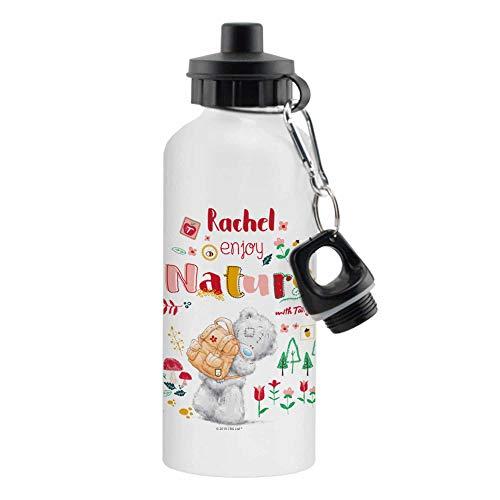 Botella de agua reutilizable de aluminio blanco con texto 'Me to You - Enjoy Nature Sub' de 500 ml