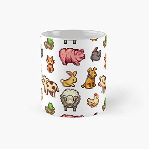 Stardew Valley Animals Classic Mug - 11 Ounce For Coffee, Tea, Chocolate Or Latte.