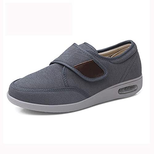 DXDUI Zapatillas diabéticas Zapatos para Hombres Artritis Edema Cierre...