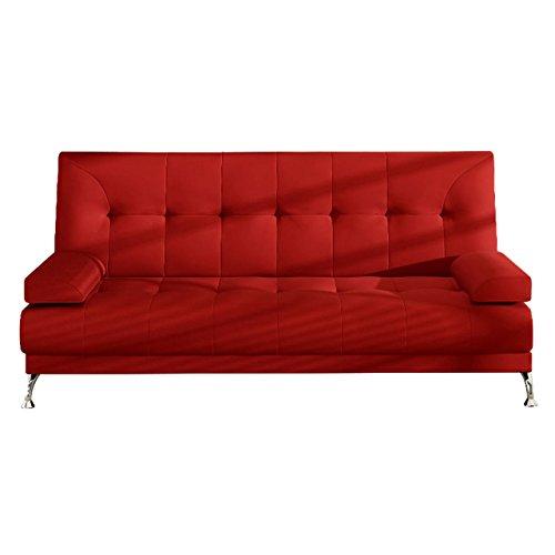 Schlafcouch Schlafsofa - Venice Moderne Sofa mit Schlaffunktion, Bettsofa, Materialmix, Couch vom Hersteller, Couchgarnitur (D12)