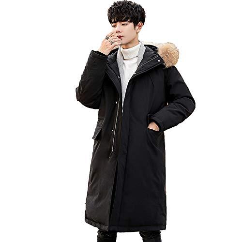 YAR-DRESS Chaquetas de plumón de pato largo con capucha, para invierno, para ropa de recreación, unisex, color negro, XXXL