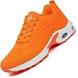 Mishansha Scarpe da Running Corsa Donna Air Leggero Scarpa per Fitness Femmina Respirabile Casual Ginnastica Sneakers Arancione, Gr.38 EU