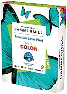 Hammermill Printer Paper, Premium Laser Print 32 lb, 8.5 x 11-1 Ream (500 Sheets) - 98 Bright, Made in the USA