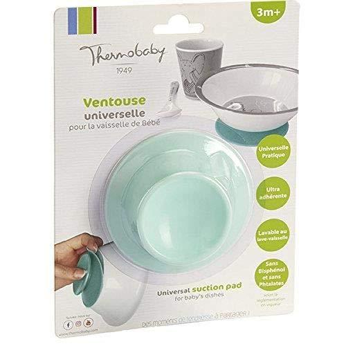 THERMOBABY - 1654 - Ventouse double face universelle pour vaisselle - Bebe - Vert - 3 mois plus
