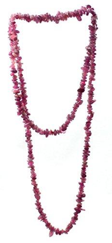 rosa Turmalin (Rubelith) Splitter Kette ca. 90 cm lang, Turmalinkette ohne Verschluss