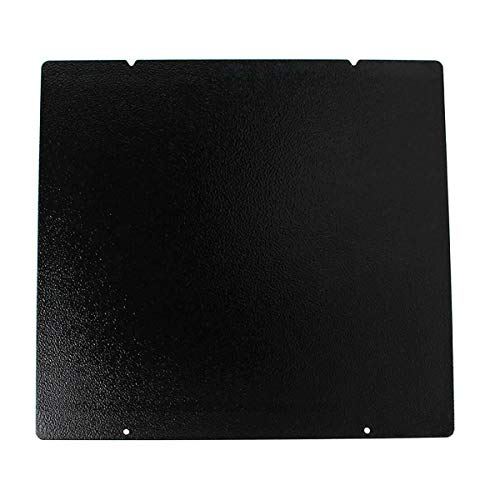 FYSETC 3D Printer Hot Bed Platform Black Double Sided Textured PEI Spring Steel Sheet Powder Coated PEI Build Sheet 254x241mm / 10x9.4 inch for Prus i3 MK3 MK2.5