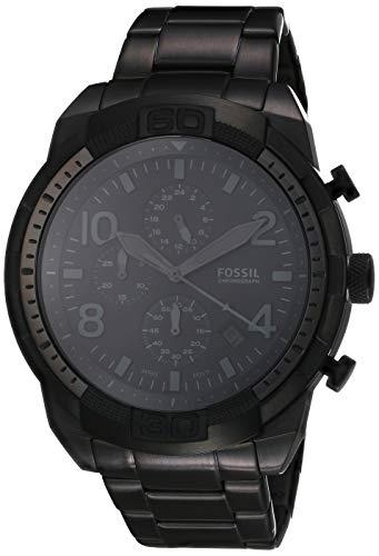 Fossil Bronson Chronograph Watch Fs5712 Black/Black One Size