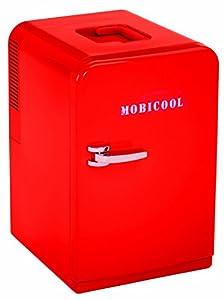 Mobicool F15 - Nevera Termoeléctrica Pequeña, Conexiones 12 / 230 V, 14 Litros de Capacidad, Color Rojo