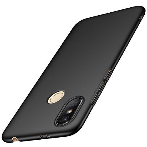 anccer Xiaomi Redmi S2 Hülle, [Serie Matte] Elastische Schockabsorption & Ultra Thin Design für Xiaomi Redmi S2 (Glattes Schwarzes)