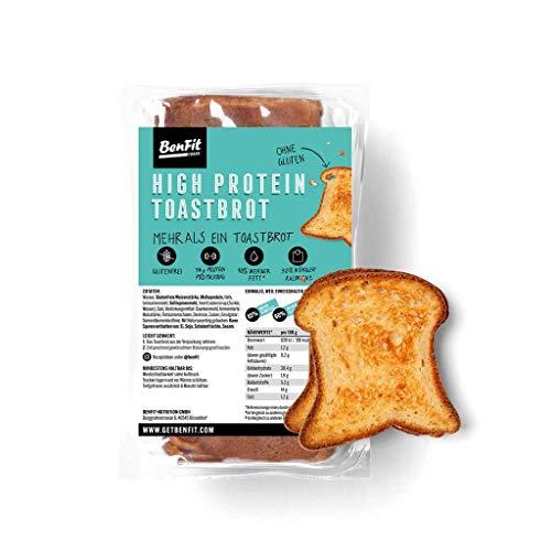 BenFit High Protein-Toast, glutenfrei & eiweißreich 1 Packung (400 g)