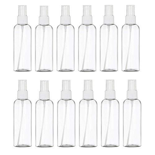 24 PCS Leere Sprühflasche 100ml Sprühflasche Klein Wiederverwendbare und Nachfüllbare Kleine Durchsichtige Plastikflaschen für Reinigung, Alkoholdesinfektion, Reisen, ätherische Öle, Parfums