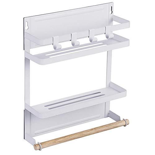 Seasaleshop Hangend rek voor koelkast, meerlagige sidewall houder, kruidenrek, glas, flessenhouder, boven de deur, wandorganizer, plank voor keuken en badkamer