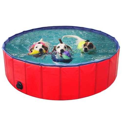 BingoPaw Hundepool Swimmingpool PVC Faltbare tragbare Hunde Katzen Bad Wanne Badewanne Waschbad Haustier Schwimmbad Wasser Teich 80cm/120cm/160cm