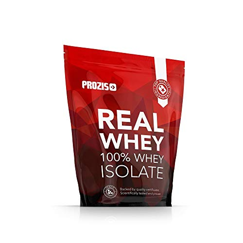 Prozis 100% Real Whey Isolate per la Perdita di Peso, Recupero Muscolare e Culturismo, Doppio Cioccolato - 1000 g