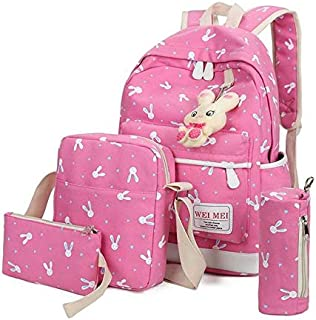Three-piece backpack schoolbag set fashion waterproof cute children girls handbag crossbody bag