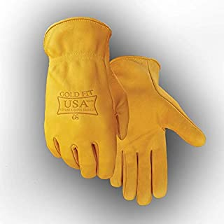 MADE IN USA Golden Stag Work Glove Heavy Duty Seamless Cowhide Glove, X-Large, USA250
