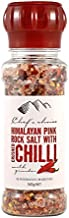Chef's Choice Himalayan Pink Rock Salt with Crushed Chilli with Grinder 160 g