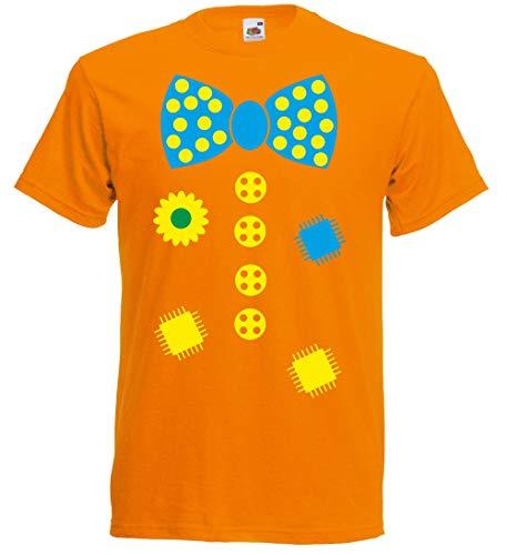 nationshirt Camiseta infantil de payaso en estilo de disfraz, diversión para carnaval rojo 140
