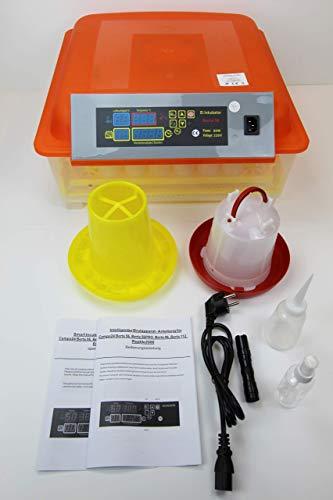 Campo24 Motorbrüter autom Wendung Brutapparat, Inkubator, für bis zu 112 Eier Inkubator (Berta 56)