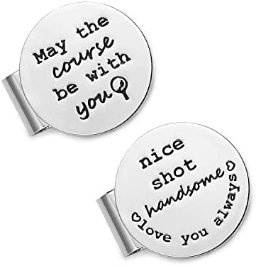 Melix Home May The Course Be with You Golf Ball Marker Magnetic Hat Clip Golfer Gifts for Dad product image