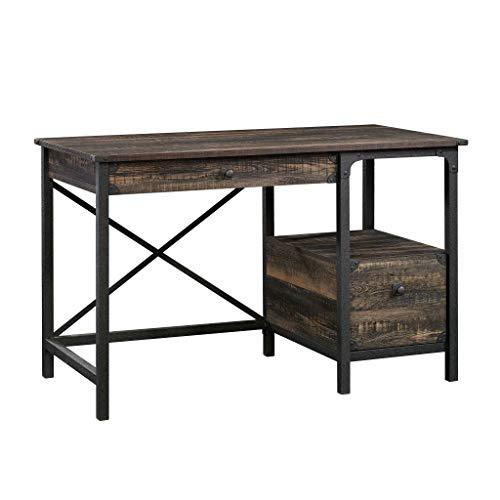 Sauder 423912 Steel River Desk, Carbon Oak Finish