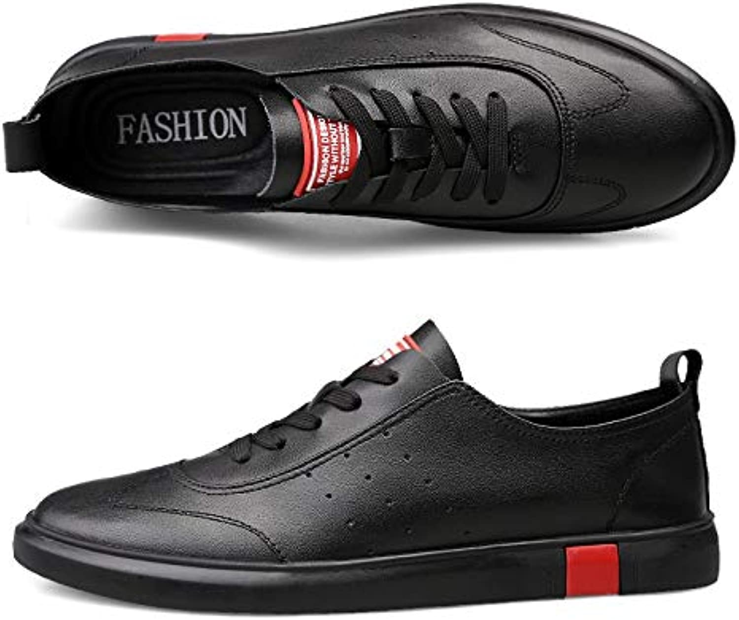 HAWEEL Casual Sports shoes Lightweight Breathable Solid color Casual shoes for Men (color Black Size 37)