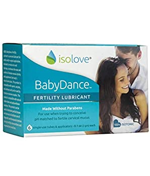 BabyDance Fertility Lubricant  Sperm-Friendly Lube Made Without Parabens - 6 Single Use Tubes with Applicators