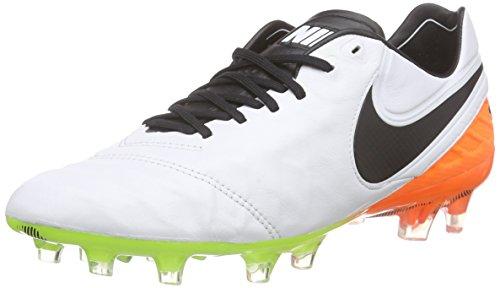 Nike Herren Tiempo Legend VI FG Fußballschuhe, Weiß (WHITE/BLACK-TOTAL ORANGE-VOLT_108), 41