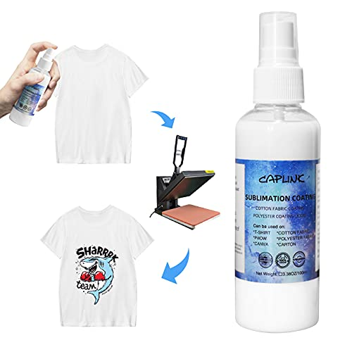 Sublimation Coating Spray for Cotton Polyester Fabric, Magic Prep Sublimation Fluid Spray for Polyester,Phones Case,Canvas,Hard Surface Spray Coating High Gloss Finish | Waterproof & Quick Dry-100ml