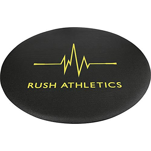 RUSH ATHLETICS Round Jump Rope Fitness MAT v2- Non-Slip, Portable, 1.4m Diameter 6mm Thick, Best for Skipping, Yoga, Bodyweight Exercises, Home Workout mat, Includes Carry Case, Durable