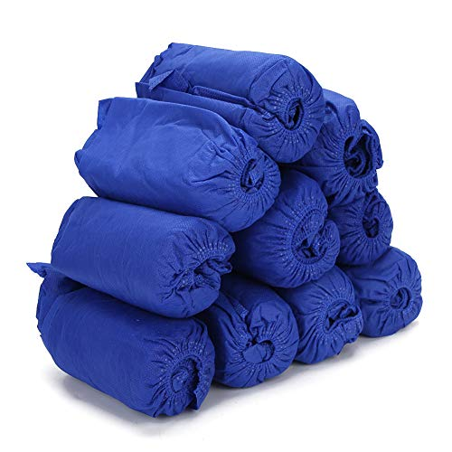 TMISHION Einweg-Schuhüberzüge im 100er-Pack (50 Paar), hygienische Einweg-Stiefelabdeckung, wasserdicht, rutschfest, ungiftig, Dehnbare Überschuhe für Familien, Hotels