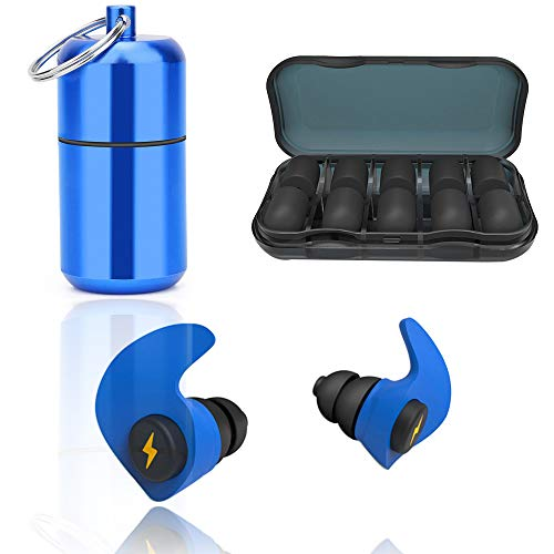Bouchons d'Oreilles Anti Bruit Sommeil Etanches en Silicone 33db antibruit Blocage du son les bouchons d'oreille Soft Sleep bouchons d'oreille réutilisables pour dormir, ronfler