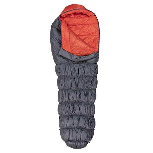 Klymit KSB 0°F Large Dual Fill Sleeping Bag, Great for Cold Weather Camping, KSB 0 Large (Hybrid), Gray