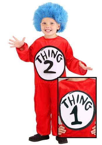 Dr. Seuss Thing 1 & Thing 2 Costume for Kids 2T-4T