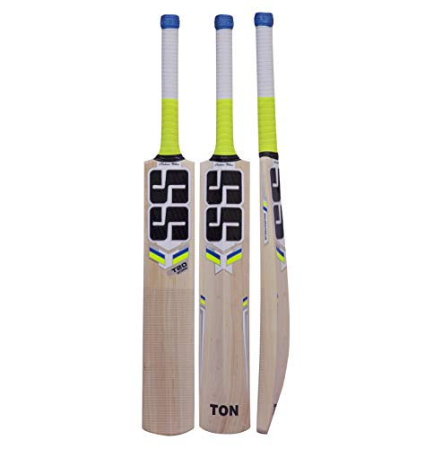 SS T20 Storm Kashmir Willow Cricket Bat with Tennis Cricket Ball and Bat Face Tape (Bat Cover Included) : 2019 Edition (T20 Storm)