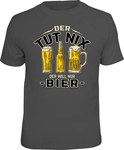 Party T-Shirt für den Bier-Kenner: Der TUT nix - Der Will nur Bier