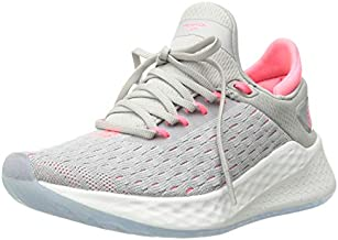 New Balance Women's Fresh Foam Lazr V2 HypoKnit Sneaker, Rain Cloud/Guava, 8 M US