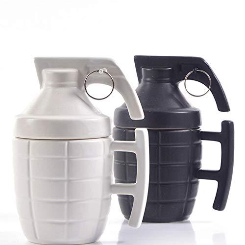 MZXU Taza de Café Granada Granada Taza Taza Taza Creativa con la Tapa Taza Taza de café Regalo de la Taza de cerámica Negro y Negro de 2 Colores 300ML Taza de té para el Hogar