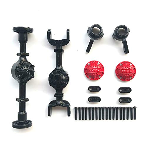 MaxMetal WPL Full Metal Spare Part Axle Housing Front Rear Shaft Sell OP Accessories for B14 B24 C14 C24 C34 (Black)
