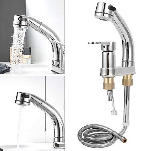XINL Grifo para Lavabo, Altura giratoria Ajustable con Accesorios de instalación Grifo extraíble, fácil de Instalar Uso doméstico Hotel para baño Cocina