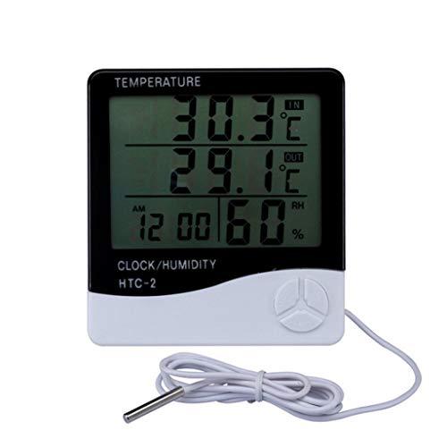 Love lamp Weerstation Digitale kamerhygrometer thermometer klok LCD binnen- en buitentemperatuur vochtmeter met sensor