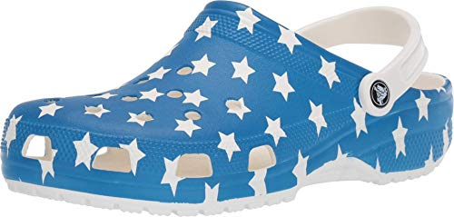 Crocs Classic American Flag Clog, white/multi, 7 US Women / 5 US Men