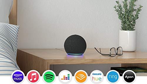 Echo Dot (4th generation), Charcoal + Amazon Smart Plug, Works with Alexa